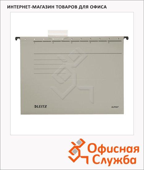 фото: Папка подвесная стандартная А4 Leitz Alpha Стандарт серая 19850085