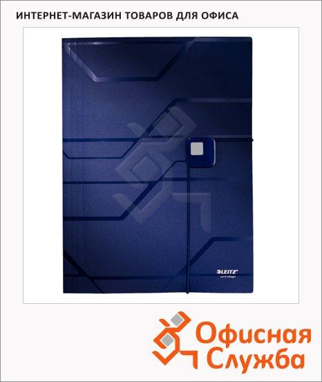 Пластиковая папка на резинке Leitz Prestige синяя, 46080035