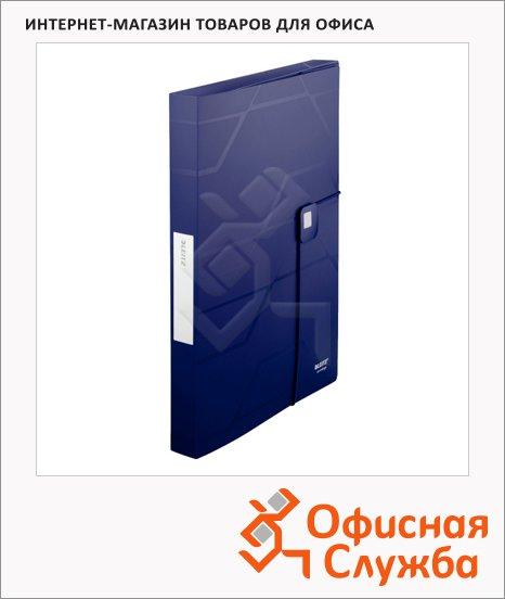Пластиковая папка на резинке Leitz Prestige синяя, A4, до 250 листов, 46090035