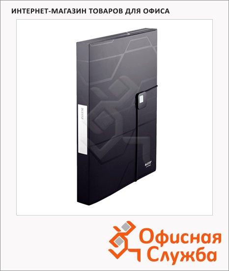 фото: Пластиковая папка на резинке Prestige черная A4, до 250 листов, 46090095
