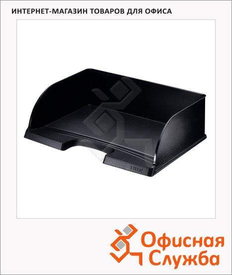 Лоток горизонтальный для бумаг Leitz Plus Jumbo А4, черный, 52190095