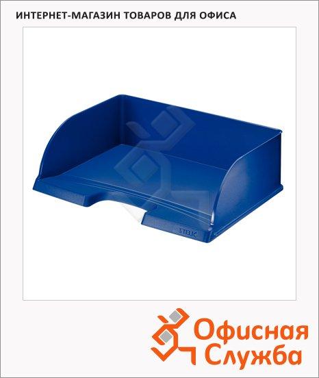 фото: Лоток горизонтальный для бумаг Leitz Plus Jumbo А4 синий, 52190035