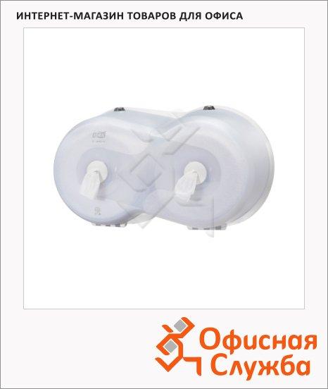 фото: Диспенсер для туалетной бумаги в рулонах Tork Wave T9 472028, с центральной вытяжкой, мини, белый