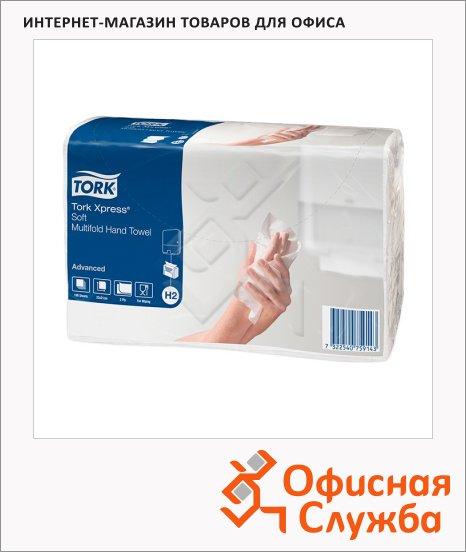 Бумажные полотенца Tork Advanced H2, 471135, листовые, 190шт, 2 слоя, белые