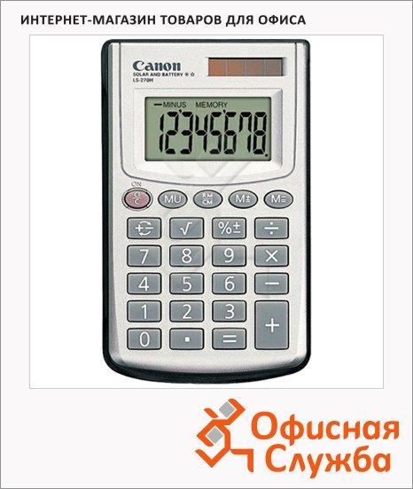 Калькулятор карманный Canon LS-270H серебристый, 8 разрядов