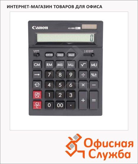 Калькулятор настольный Canon AS 888 серый, 16 разрядов