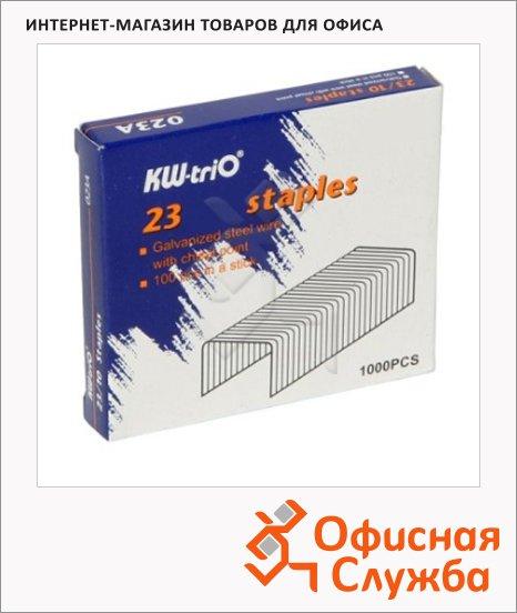 фото: Скобы для степлера Kw-Trio №23/10 оцинкованные, 1000 шт, 023A