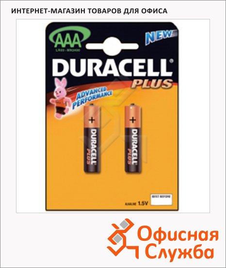 Батарейка Duracell Basic AAA/LR03, 1.5В, алкалиновая, 2шт/уп