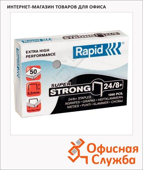 Скобы для степлера Rapid Super Strong 1M для степлера HD9 №24/8+, оцинкованные, 1000 шт