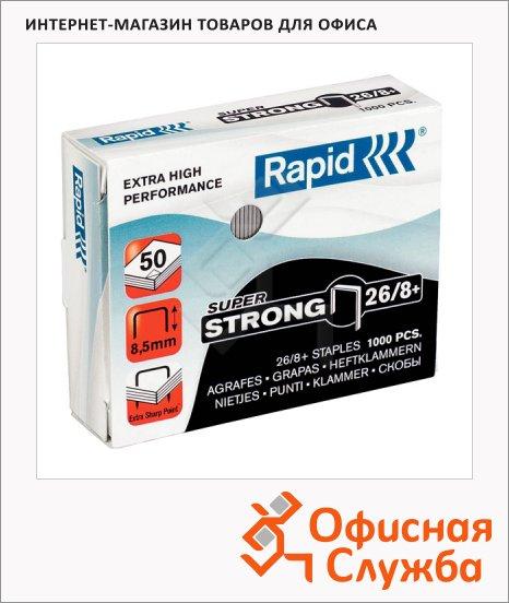 фото: Скобы для степлера Rapid Super Strong 1M для степлера HD9 №26/8+ оцинкованные, 1000 шт