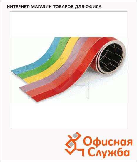 Лента магнитная для магнитной доски Magnetoplan 1х100см, красная