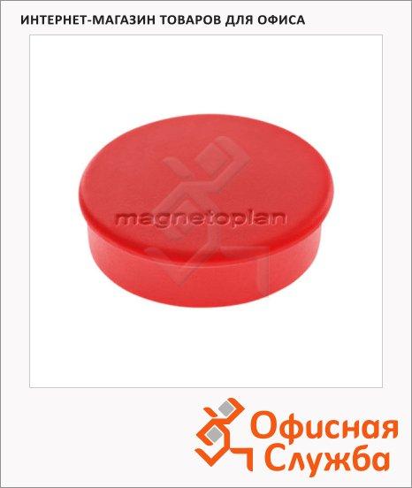 Магниты Magnetoplan Hobby d=25х8мм, 10шт/уп, красные