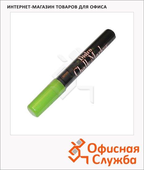 фото: Маркер меловой 480 неоновый зеленый 1.5-6мм, круглый наконечник, для окон и темных досок