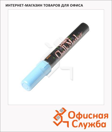Маркер меловой Marvy 480 неоновый голубой, 1.5-6мм, круглый наконечник, для окон и темных досок