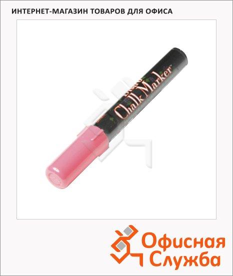 фото: Маркер меловой Marvy 480 неоновый розовый 1.5-6мм, круглый наконечник, для окон и темных досок