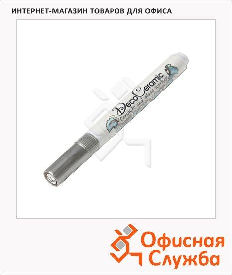 Маркер для стекла и керамики Marvy 333/FP серебристый, 0.75мм, круглый наконечник, декоративный