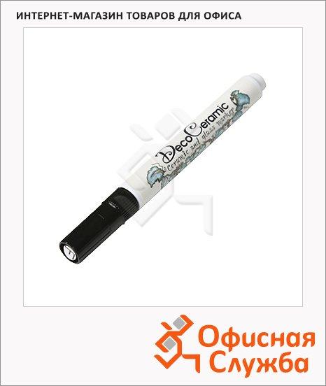 Маркер для стекла и керамики Marvy 333/FP черный, 0.75мм, круглый наконечник, декоративный