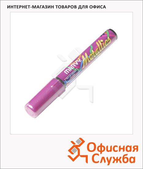фото: Маркер пигментный Marvy 810 розовый 1-5мм, скошенный наконечник
