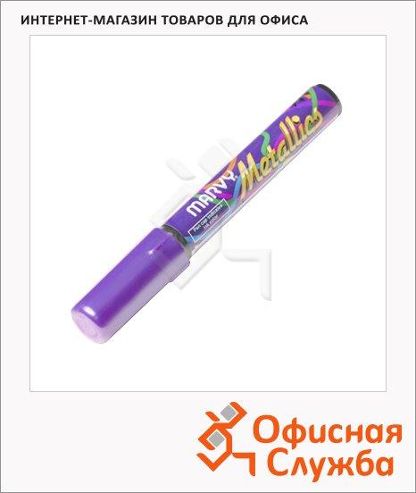 Маркер пигментный Marvy 810 фиолетовый, 1-5мм, скошенный наконечник