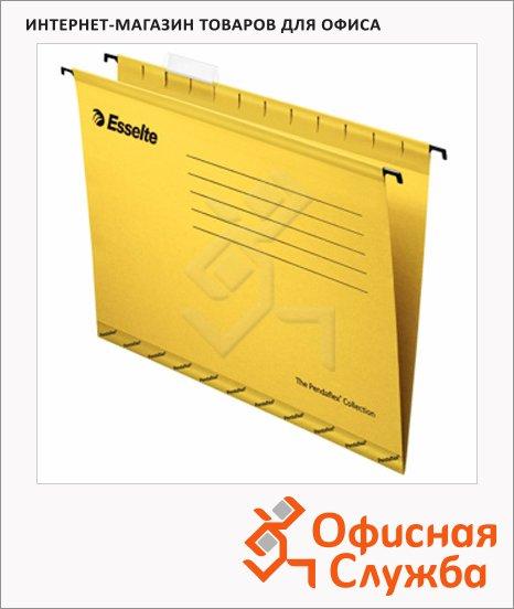 Папка подвесная стандартная А4 Esselte Standart желтая, 25 шт/уп
