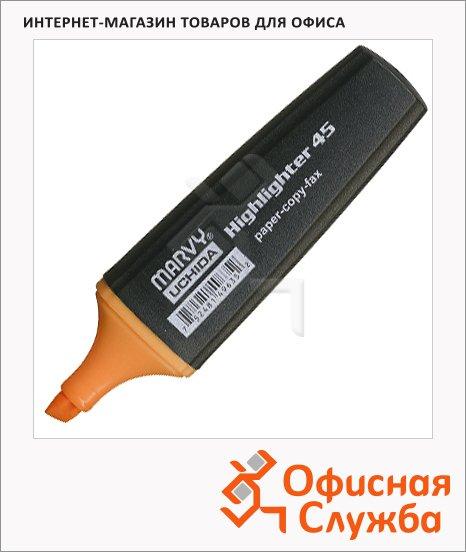 Текстовыделитель Marvy М-45 оранжевый, 1-5мм, скошенный наконечник