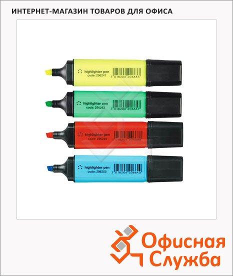 Текстовыделитель Expert Complete H-13 набор 4 цвета, 1-5мм, скошенный наконечник