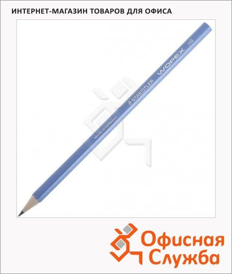 Карандаш чернографитный Staedtler Wopex 180 HB, корпус цвета металлик