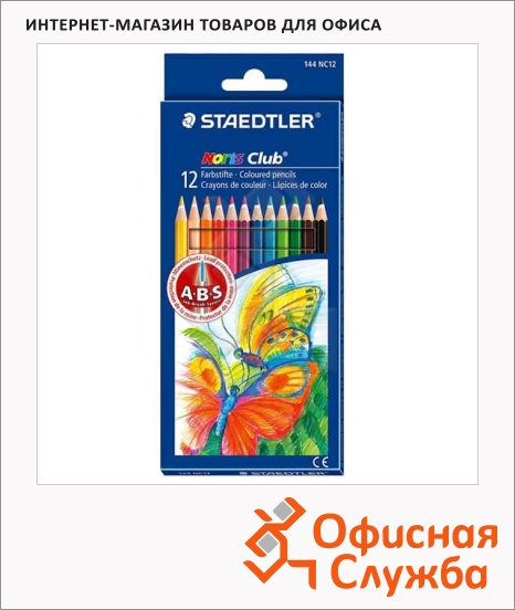 фото: Набор цветных карандашей Noris сlub Jumbo 144 12 цветов 144NC1210