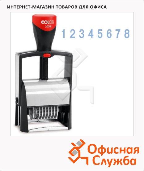 фото: Нумератор с автоматической оснасткой Colop Microban 8 разрядов 5мм, S2008