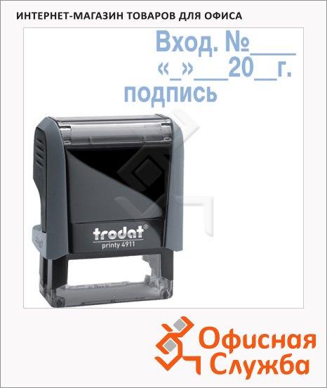 фото: Штамп стандартных слов Trodat Printy Вход.№__дата подпись 38х14мм, серый, 4911