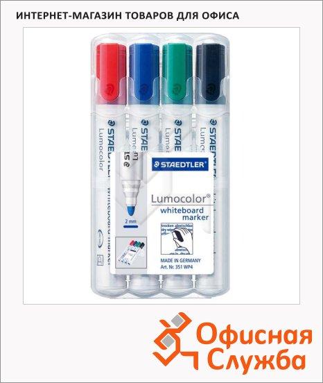 фото: Маркер для досок Lumocolor 351 2мм, 4 цвета