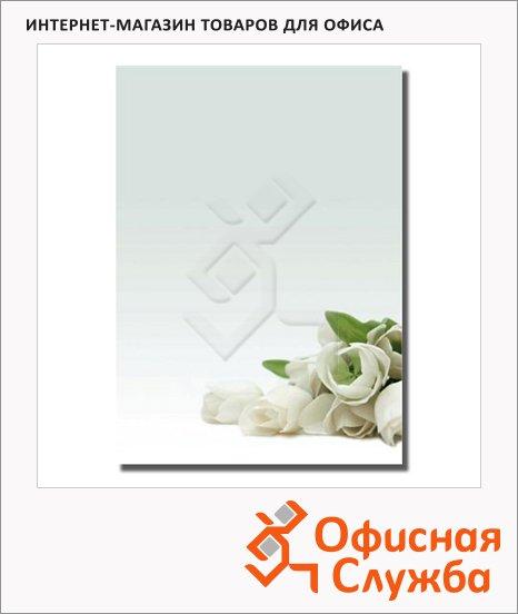 Дизайн-бумага Decadry Белые цветы, А4, 90г/м2, 20 листов