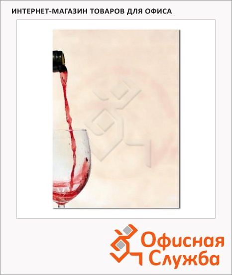 Дизайн-бумага Decadry Star Сollection Бокал Вина, А4, 90г/м2, 20 листов