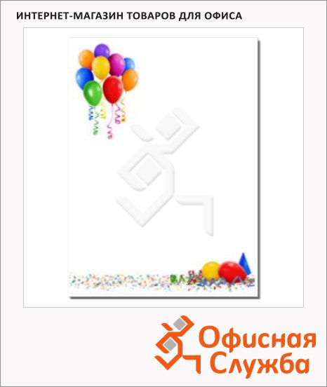 Дизайн-бумага Decadry Star Сollection Воздушные шары, А4, 90г/м2, 20 листов