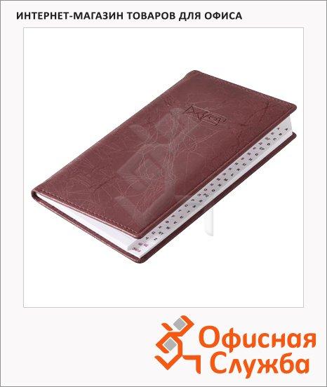 Телефонная книга Brunnen Эмоушен А6, 48 листов, кожзам, бордовая