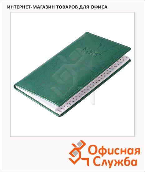 фото: Телефонная книга Brunnen Эмоушен А6 48 листов, кожзам, зеленая