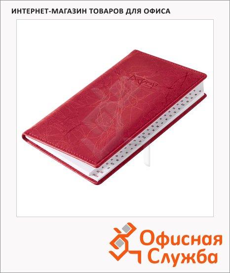 Телефонная книга Brunnen Эмоушен А6, 48 листов, кожзам, красная