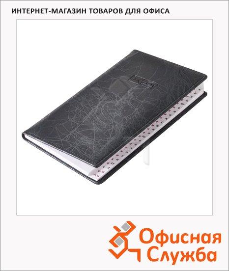 Телефонная книга Brunnen Эмоушен А6, 48 листов, кожзам, черная