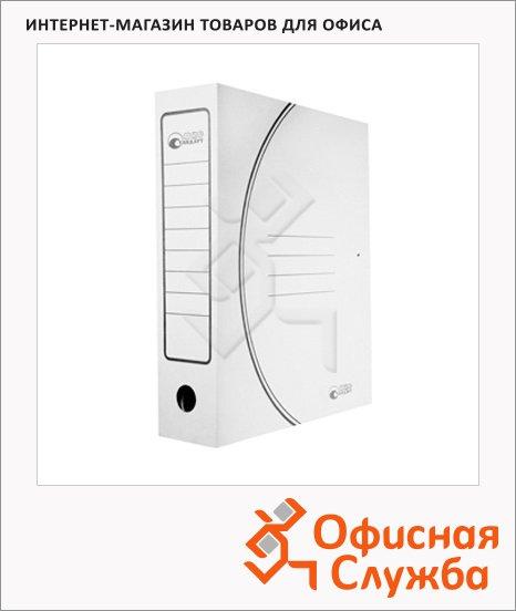 фото: Архивная папка на завязках Промтара Офис Стандарт белая А4, 75 мм, 323б