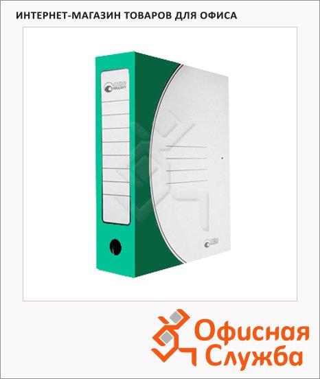 фото: Архивная папка на завязках Промтара Офис Стандарт зеленая А4, 75 мм, 323з