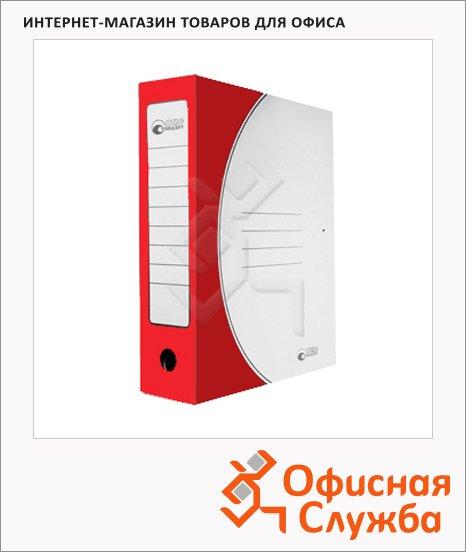 фото: Архивная папка на завязках Промтара Офис Стандарт красная А4, 75 мм, 323к