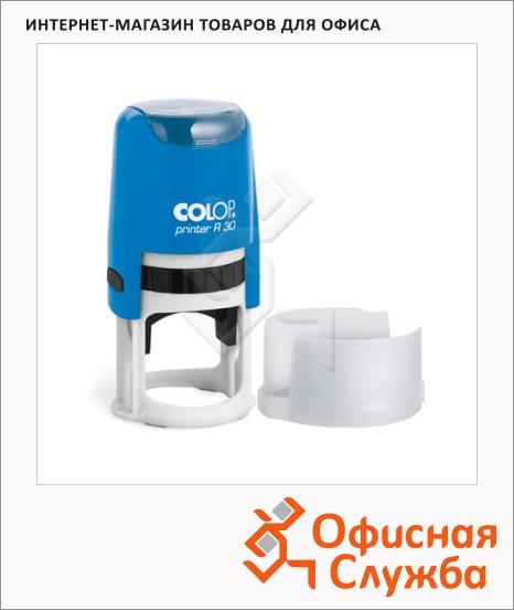 фото: Оснастка для круглой печати Colop Printer d=30мм с крышкой, синяя