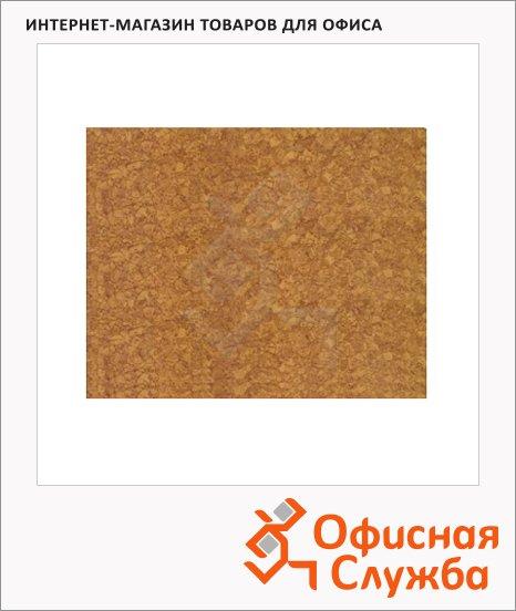 фото: Доска пробковая Hopax Infoboard 58х46см пробковая, без рамы, клейкая, коричневая