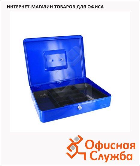Кэшбокс Office Force TS812, ключевой замок, синий, 9х19.5х29см