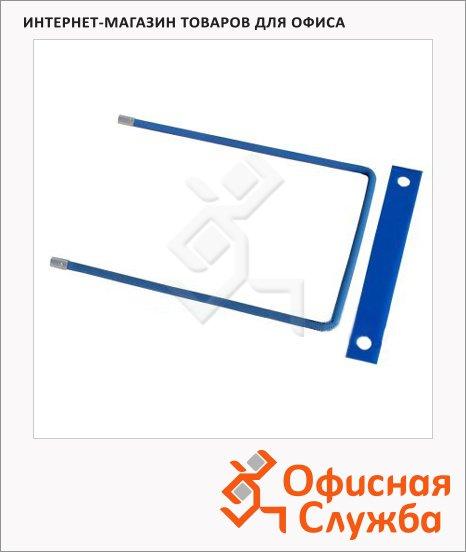 фото: Механизм для скоросшивателя металлопластиковый синий 10 шт/уп, 20004