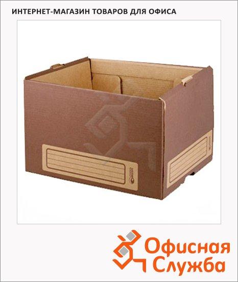 Архивный короб Промтара Офис Стандарт коричневый, 340х265х440 мм, 261