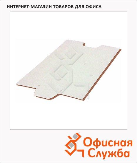 Подложка для подшивки документов картонная Промтара белая, А4/А5, 400