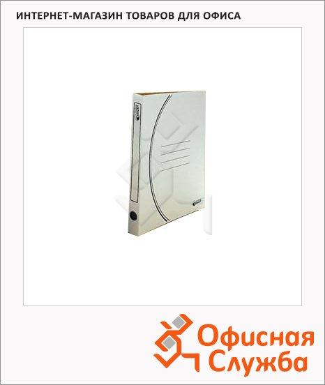 фото: Скоросшиватель картонный Промтара Офис Стандарт белый А4, 30 ОПС30б