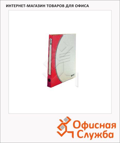 фото: Скоросшиватель картонный Промтара Офис Стандарт красный А4, 30 ОПС30к