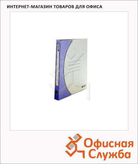 фото: Скоросшиватель картонный Промтара Офис Стандарт синий А4, 30 ОПС30с